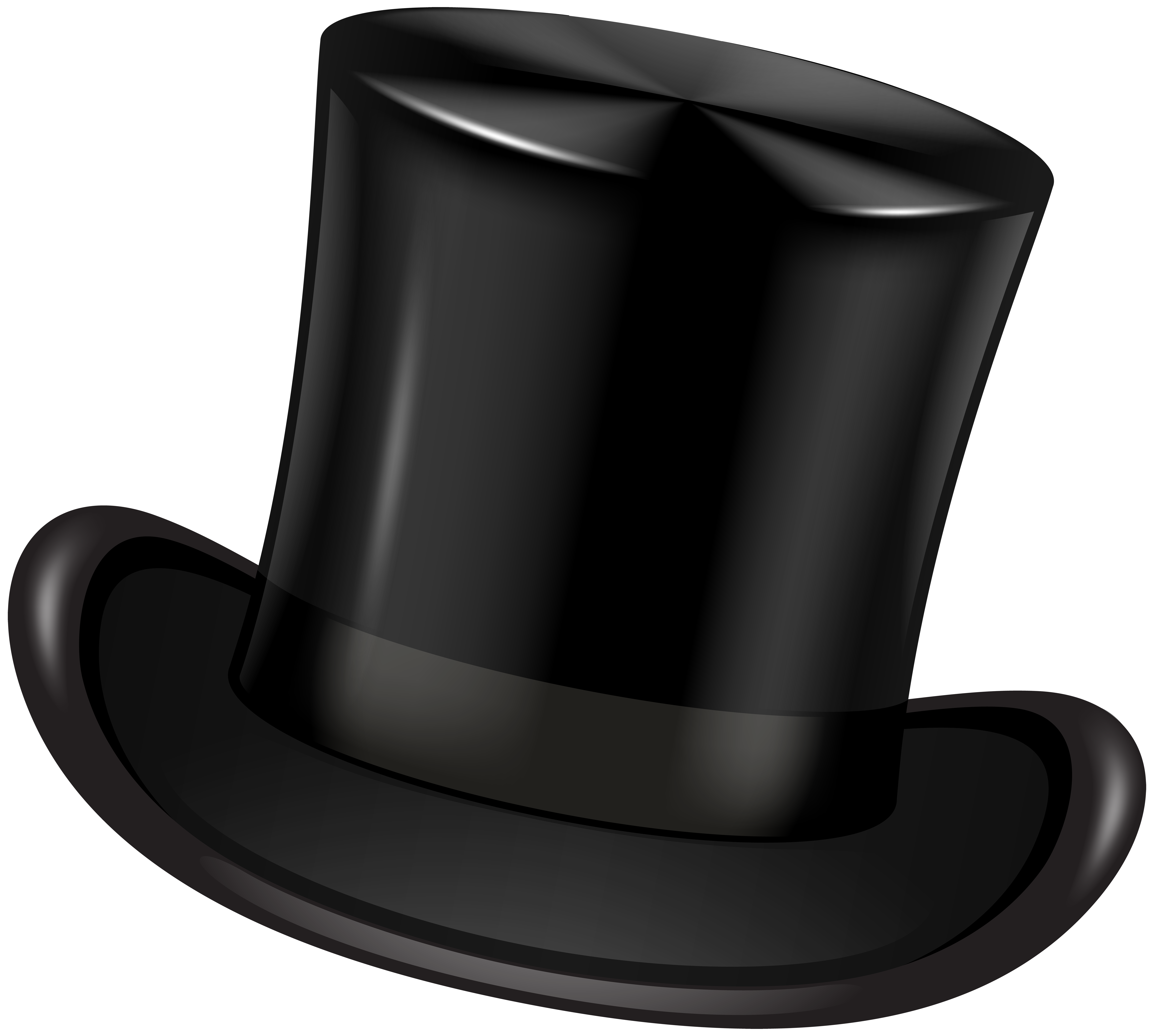 Black top hat clipart clip black and white Black Top Hat Transparent Clip Art PNG Image | Gallery Yopriceville ... clip black and white