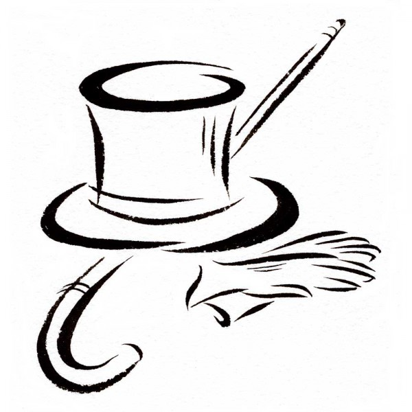 Black tophat & cane clipart vector black and white Top Hat And Cane Clipart | Free download best Top Hat And Cane ... vector black and white