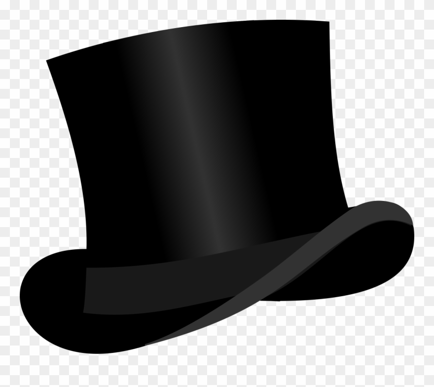 Black tophat & cane clipart vector royalty free stock Medium Image - Black Top Hat Clipart - Png Download (#24658 ... vector royalty free stock