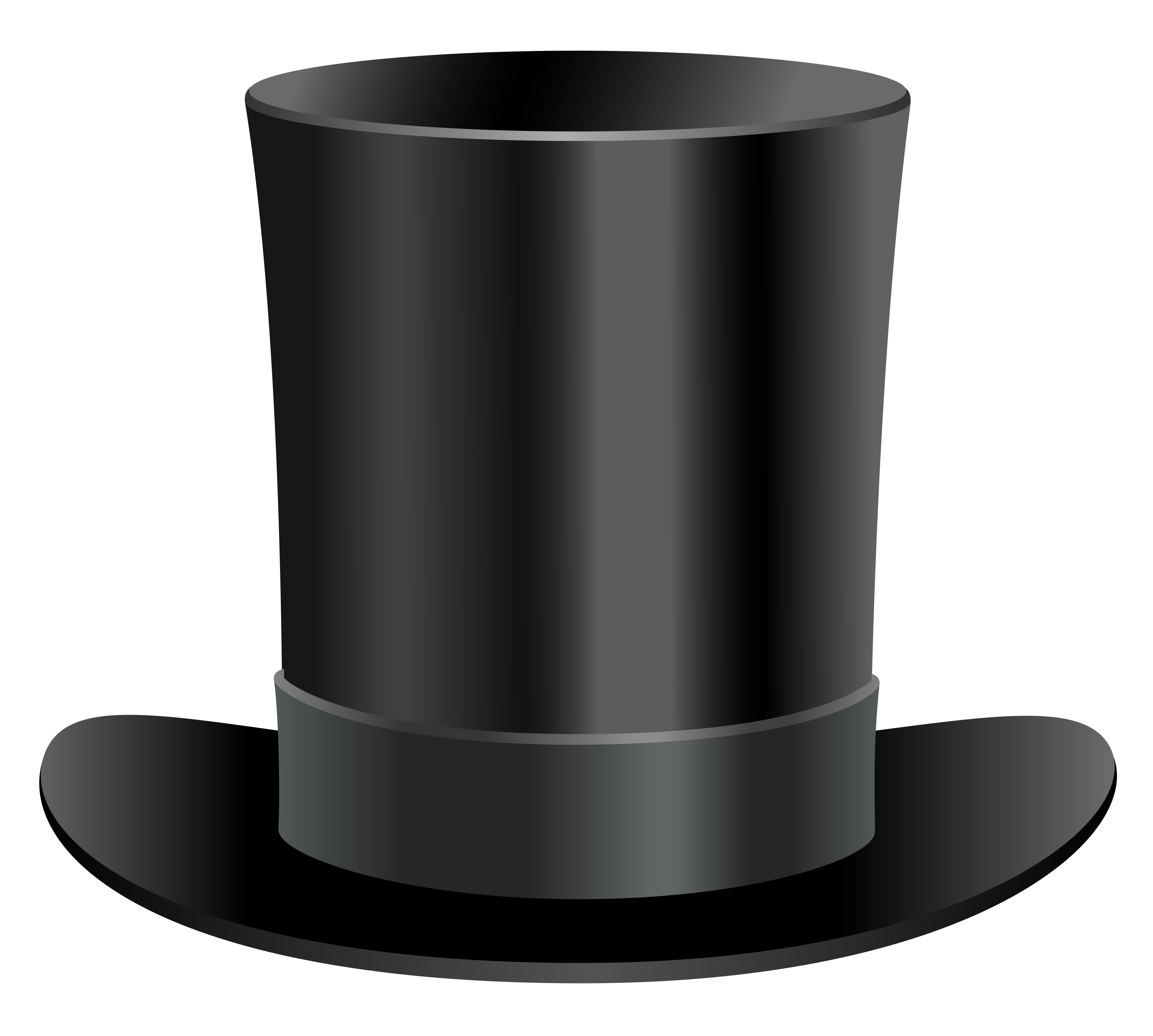 Black tophat & cane clipart banner black and white download Black Top Hat PNG Clipart | Gallery Yopriceville - High-Quality ... banner black and white download