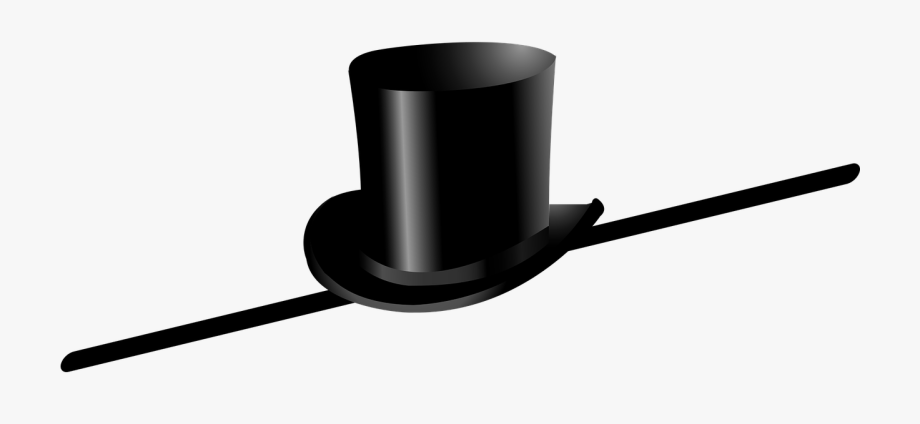Black tophat & cane clipart clip royalty free stock Tall Top Hat Png - Top Hat And Cane Clip Art #280927 - Free Cliparts ... clip royalty free stock