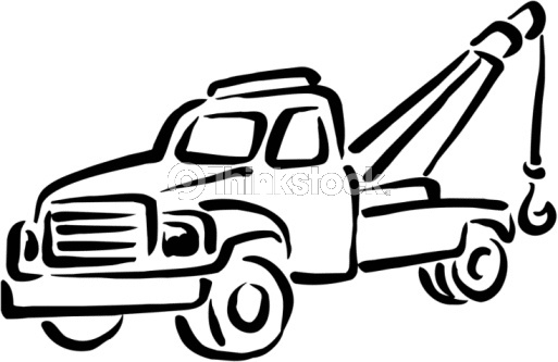 Tow truck clipart black and white graphic stock Cartoon Tow Truck Pictures | Free download best Cartoon Tow Truck ... graphic stock