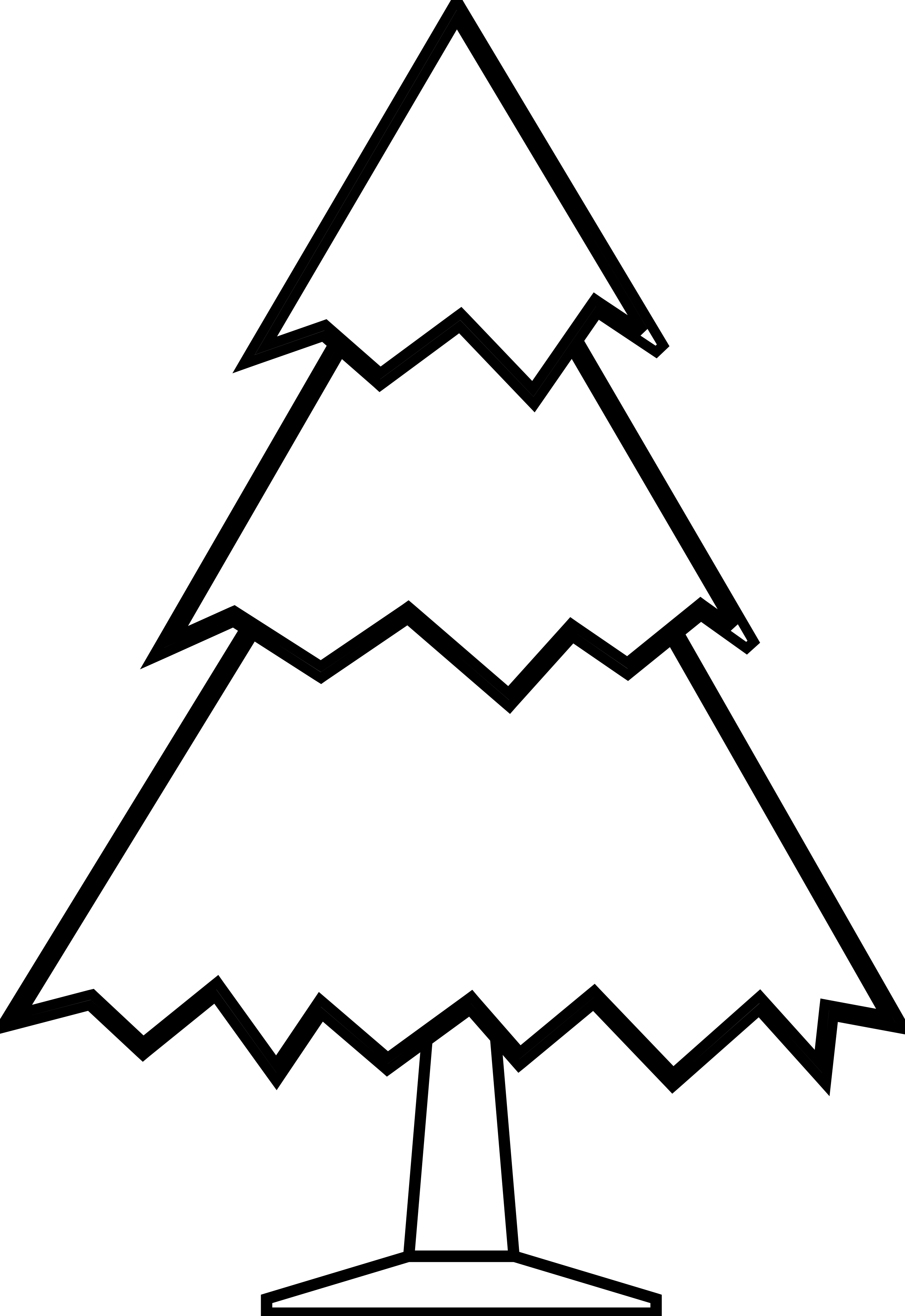 Christmas line clipart svg free Simple Black And White Tree Drawing | Clipart Panda - Free Clipart ... svg free