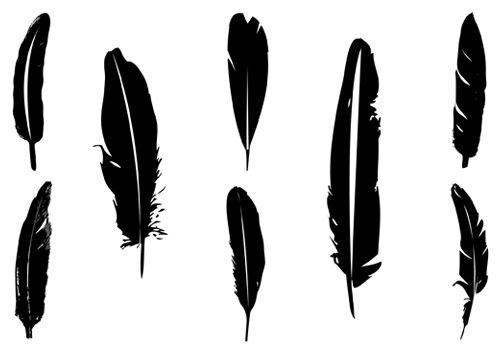 Black tribal arrow silhouette clipart clip black and white Feather arrow silhouette clipart - ClipartFest clip black and white