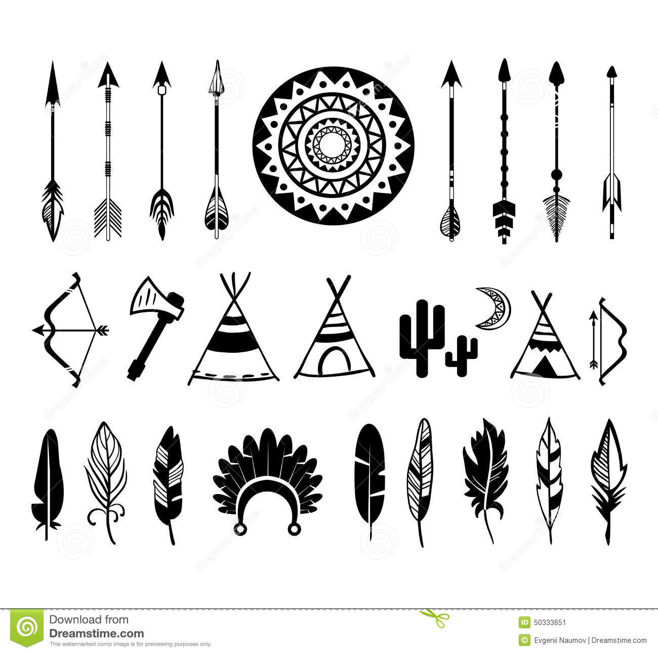 Black tribal arrow silhouette clipart vector royalty free library Vector Silhouettes Of The Bow And Arrow Stock Vector - Image: 50333651 vector royalty free library