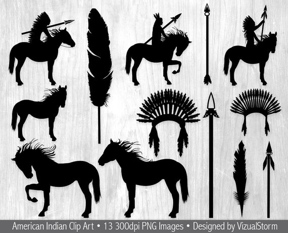 Black tribal arrow silhouette clipart graphic freeuse library Tribal Indian Silhouettes Clipart, Native American Indians ... graphic freeuse library