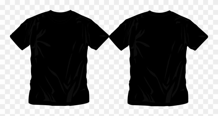 Black tshirt clipart pics png svg transparent Download - Real T Shirt Template Png Clipart (#417347) - PinClipart svg transparent