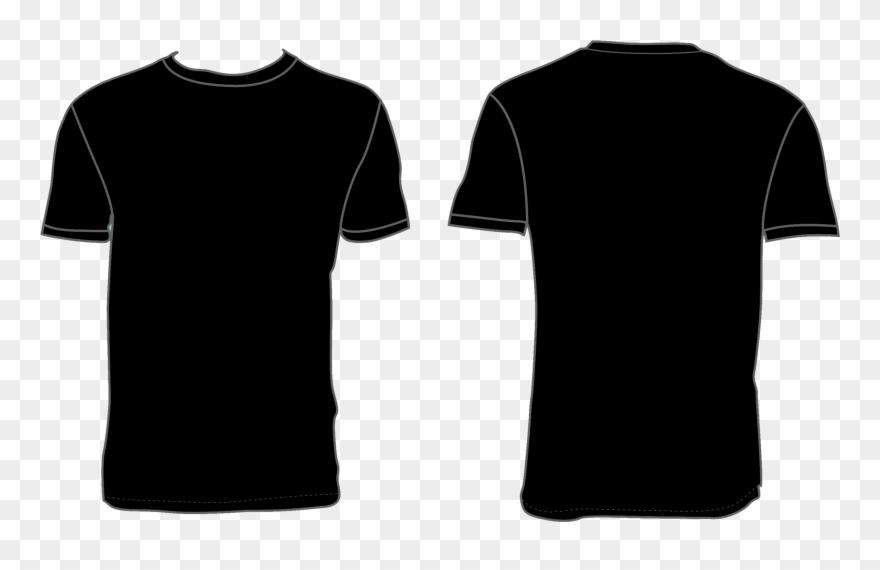 Black tshirt clipart pics png transparent download Black Shirt Template Png Clipart (#4207455) - PinClipart transparent download