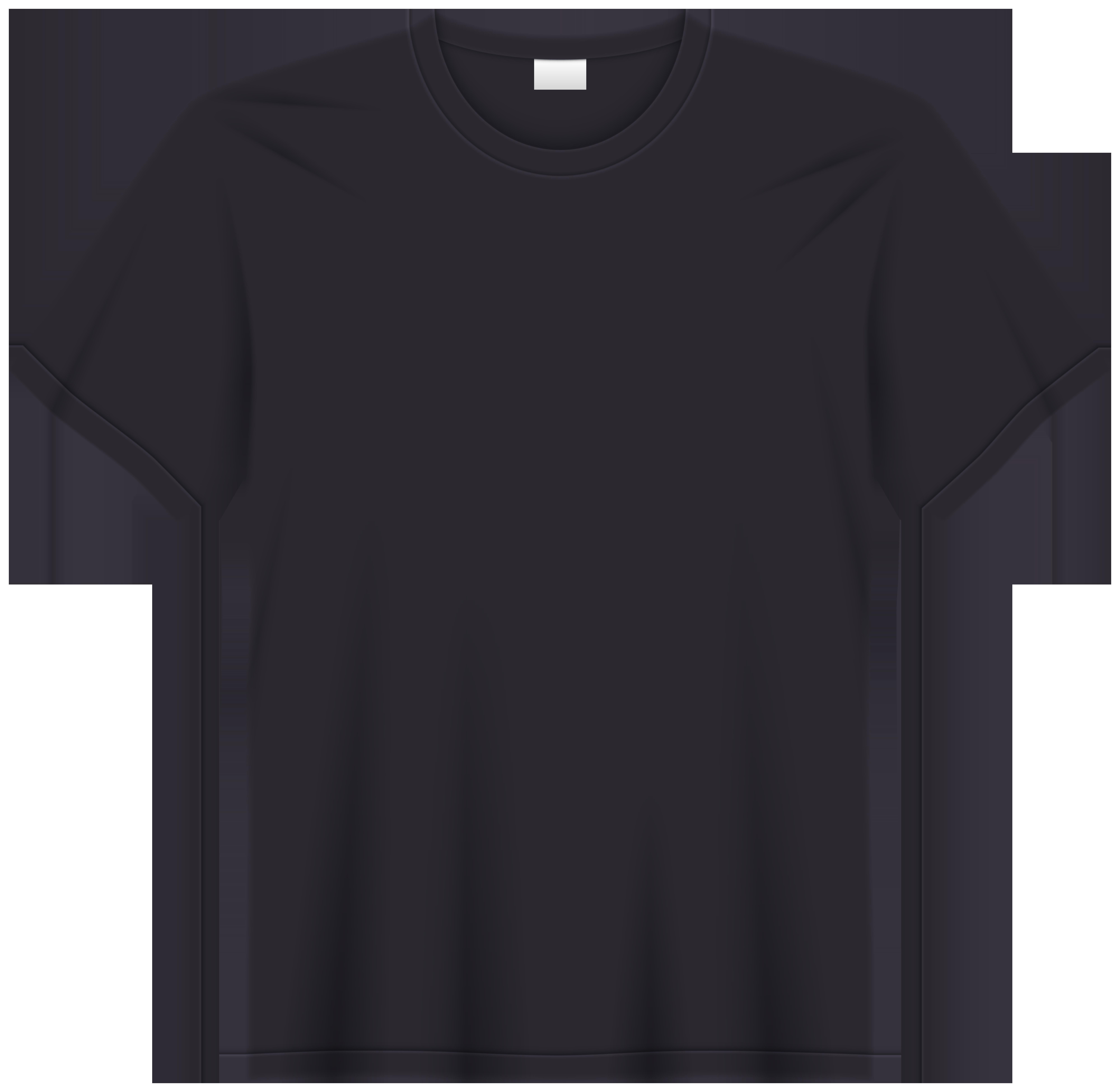 Black tshirt clipart pics png clip art transparent library Black T Shirt PNG Clip Art - Best WEB Clipart clip art transparent library