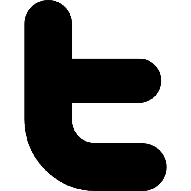 Black twitter clipart clipart royalty free stock Twitter letter logo Icons | Free Download clipart royalty free stock
