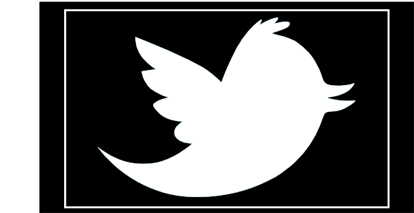 Black twitter clipart black and white Twitter clipart black - ClipartFest black and white