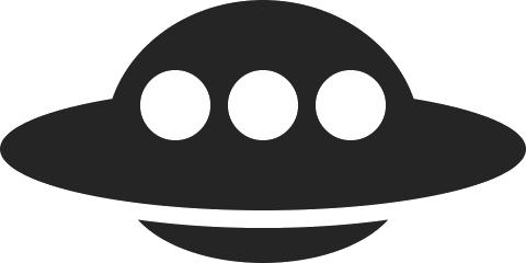 Black ufo clipart vector library library Ufo PNG images free download vector library library