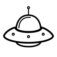 Black ufo clipart banner royalty free Spaceship Clipart Black And White | Free download best Spaceship ... banner royalty free
