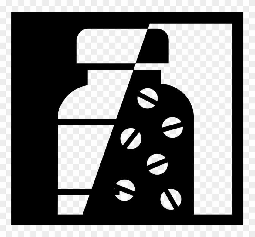Black vector clipart medicine png clip art royalty free stock Vector Illustration Of Prescription Medicine Pill Bottle, HD Png ... clip art royalty free stock