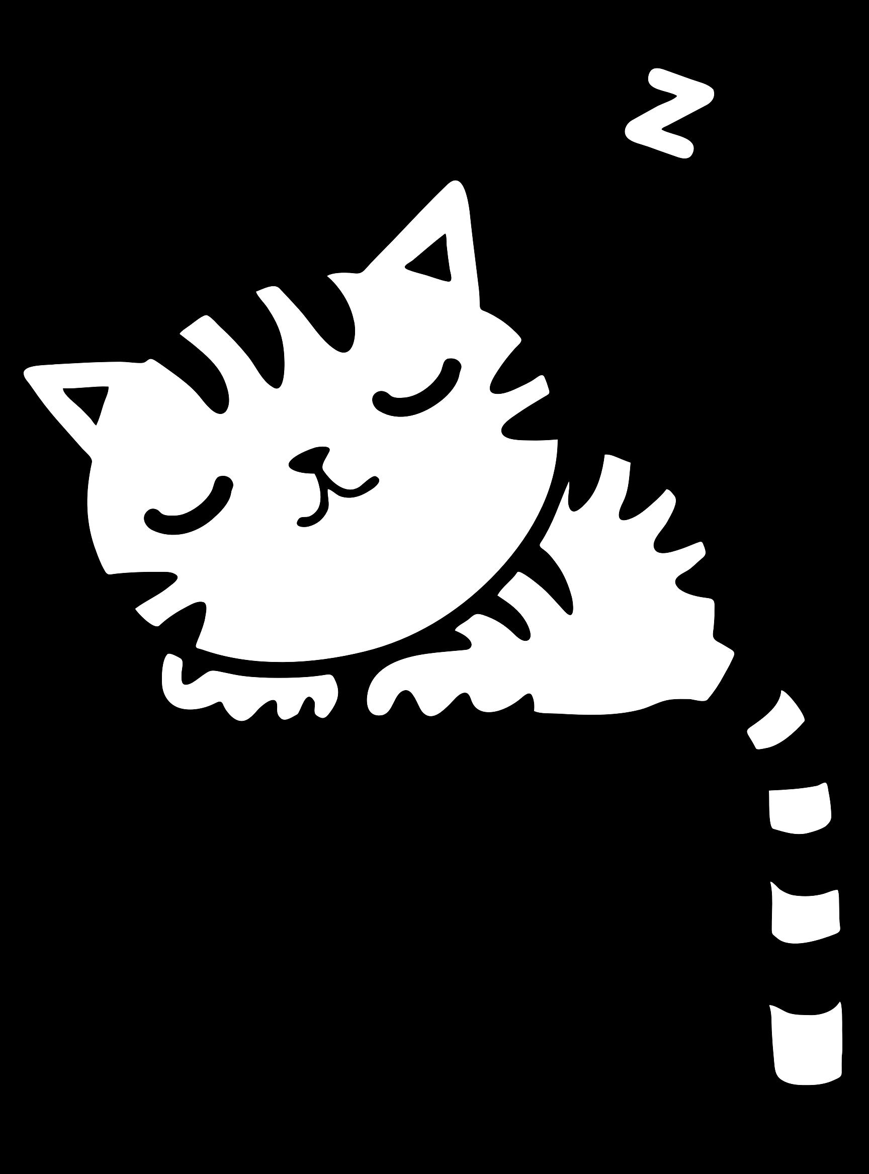 Black vector clipart sleep png svg freeuse Sleeping Kitty by GDJ   Cricut - FUN   Vector clipart, Clipart ... svg freeuse