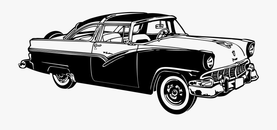 Vintag ecar clipart vector black and white Classic Car Vintage Car Chevrolet Ford Motor Company - Classic Car ... vector black and white