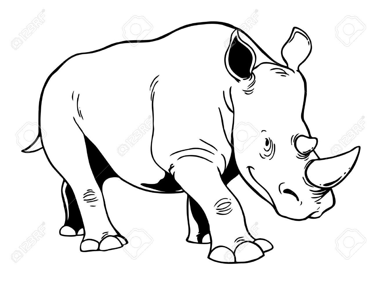 Black vs white rhino clipart picture library Rhino Clipart Black And White picture library