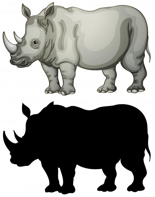 Black vs white rhino clipart clipart transparent download White Rhino Vectors, Photos and PSD files | Free Download clipart transparent download