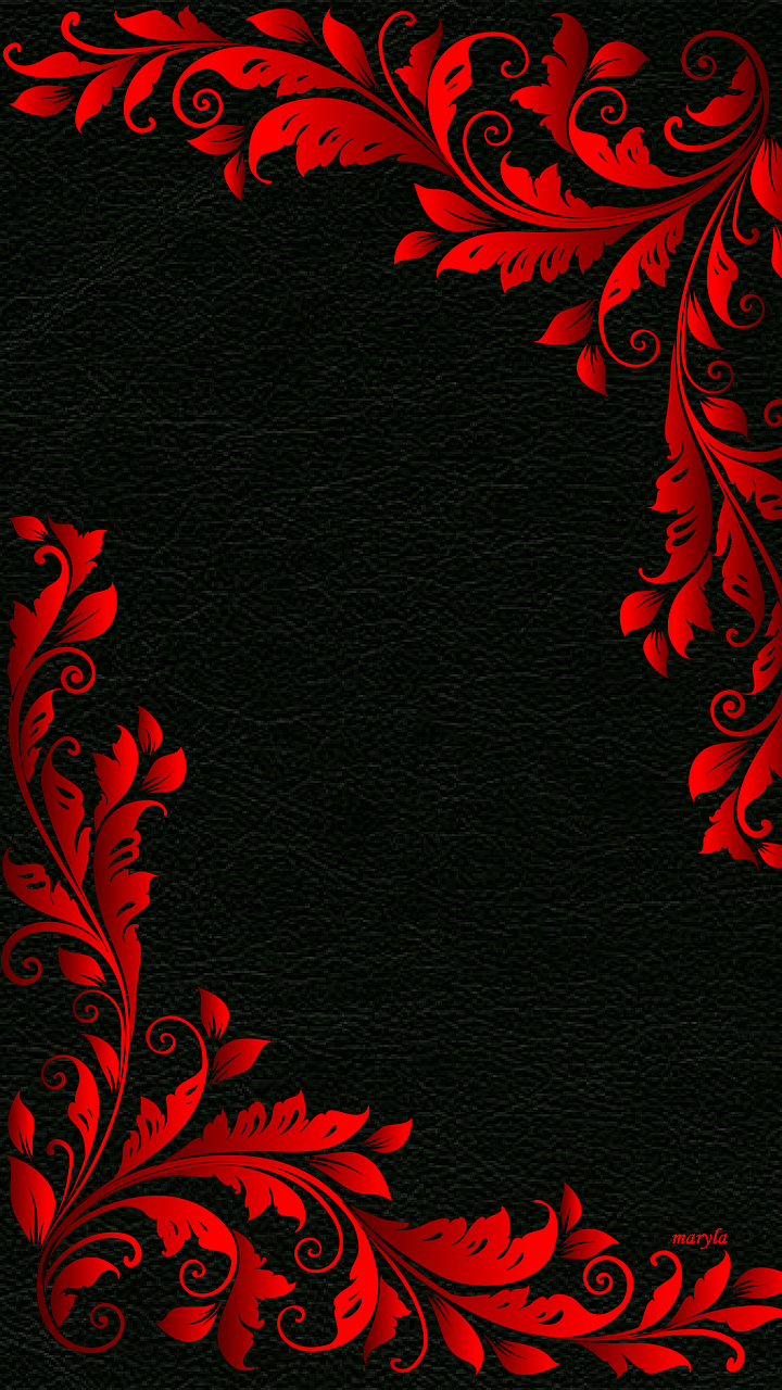 Red wallpaper clipart clip royalty free stock Download 720x1280 «red black floral abstract» Cell Phone Wallpaper ... clip royalty free stock