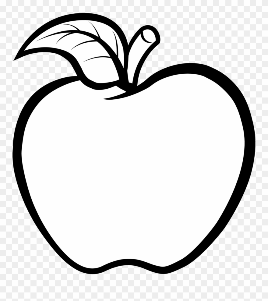 Transparent background black and white apple clipart vector transparent Apple Clipart Black And White Vector Free 11 Buah Apel - Black And ... vector transparent