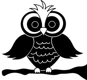 Black white clip art image black and white Owl Black And White Clipart - Clipart Kid image black and white
