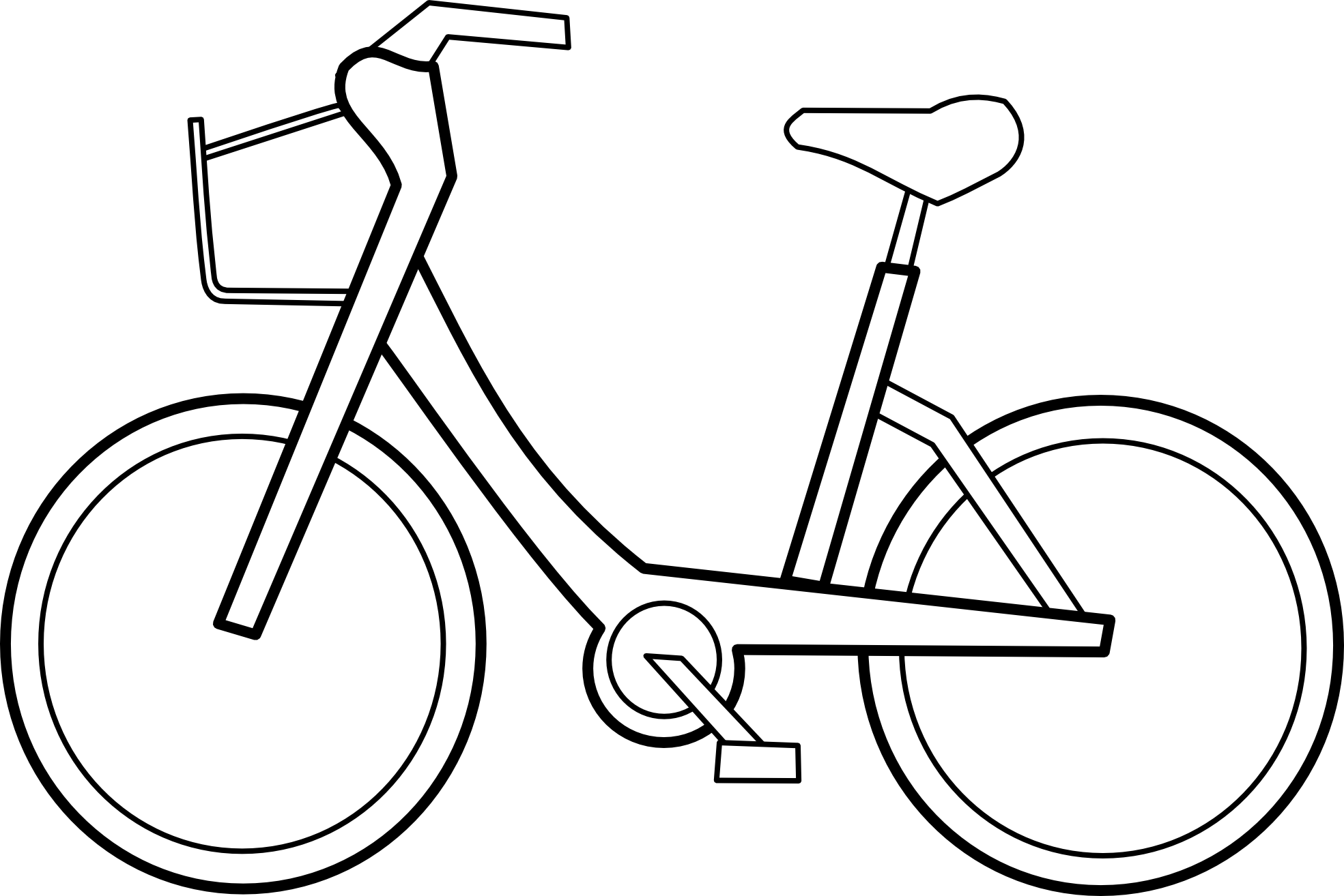 Bw bike clipart clip free stock Bike Clipart Black And White | Clipart Panda - Free Clipart Images clip free stock