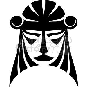 Black white clipart cross out mask svg stock tribal masks vinyl ready art 047 clipart. Royalty-free clipart # 386400 svg stock