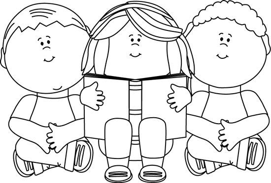 Black white clipart kids heads graphic library library Child Reading A Book Clipart Black And White - clipartsgram.com ... graphic library library