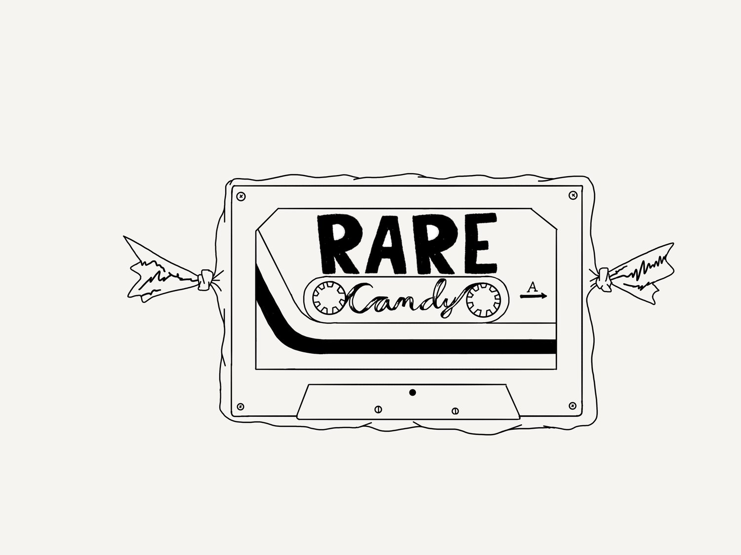 Black & white clipart logo zachary confections png free Music blogAbout — Rare Candy png free