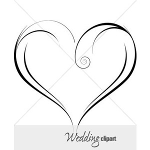 Free image about wiring. Black white clipart of open hearts