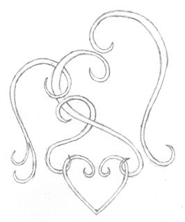 Black white clipart of open hearts.  best ideas about