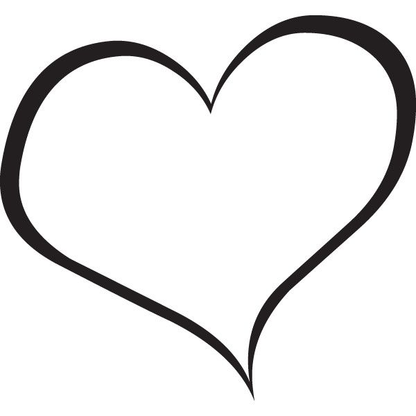 Black white clipart of open hearts svg download Black & white clipart of open hearts - ClipartFest svg download