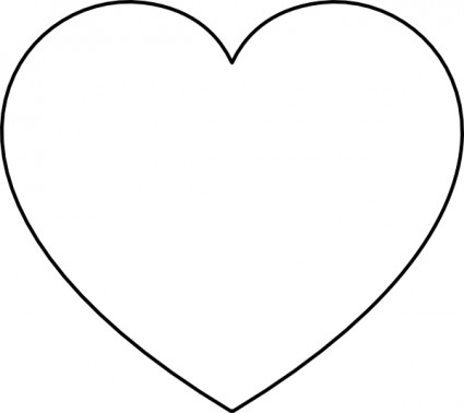 Black white clipart of open hearts. Heart free clip art