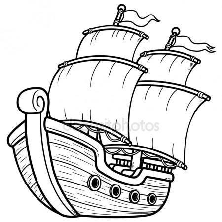 Black white clipart pirate ship clipart free download Pirate ship clipart black and white 3 » Clipart Station clipart free download