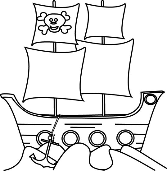 Black white clipart pirate ship graphic stock Black And White Pirate Ship | Free download best Black And White ... graphic stock