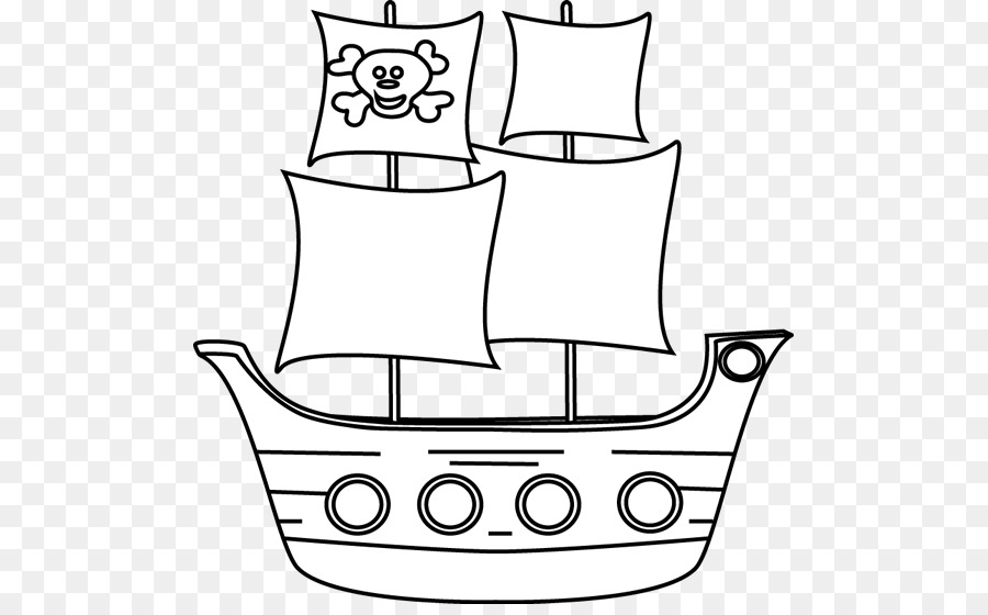 Black white clipart pirate ship clip free library Book Black And White clipart - Boat, transparent clip art clip free library