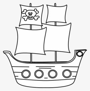 Black white clipart pirate ship image library stock Pirate Ship PNG, Transparent Pirate Ship PNG Image Free Download ... image library stock