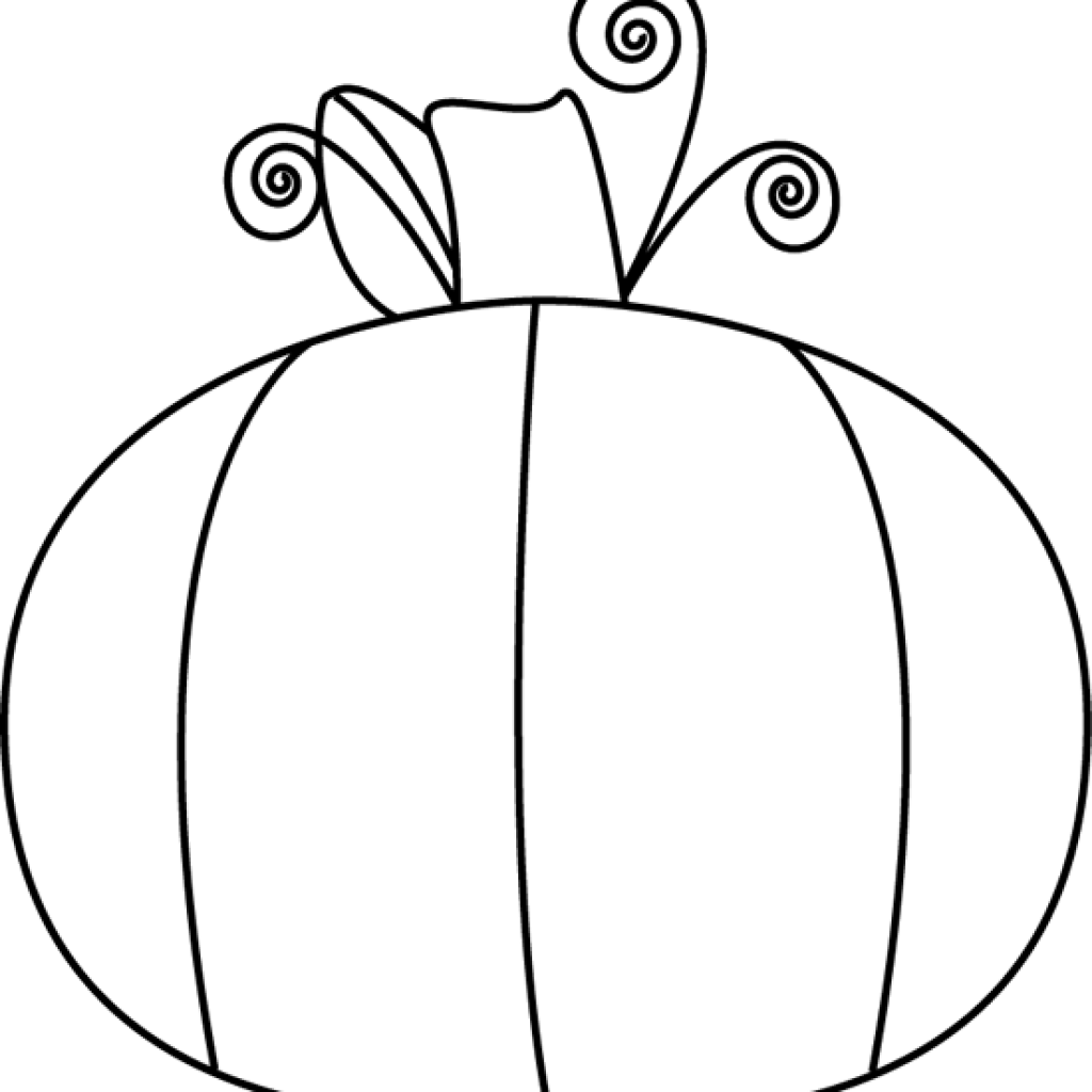 Black and white clipart of pumpkin clipart free stock Black And White Pumpkin Clip Art wave clipart hatenylo.com clipart free stock