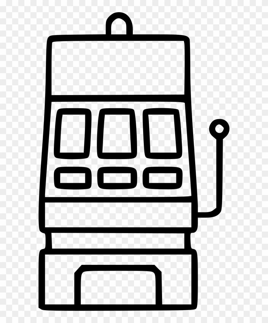 Black white clipart slot machine png black and white stock Slot Machine Bingo Random Luck Risk Spin Bet Comments - Coloring ... png black and white stock