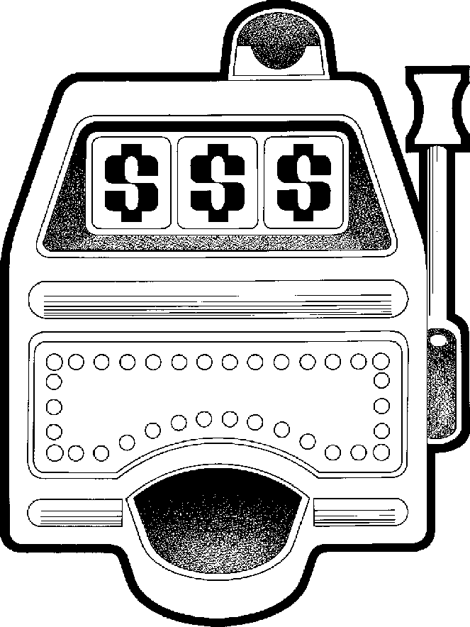 Black white clipart slot machine transparent Slot Machines Cliparts - Cliparts Zone transparent