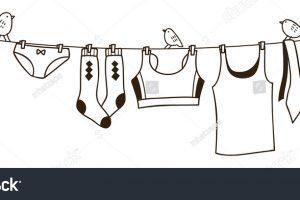 Black & white clothesline clipart vector Clothesline clipart black and white 4 » Clipart Portal vector