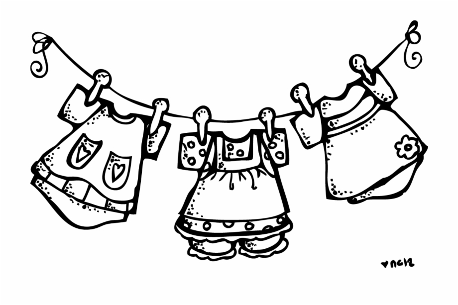 Black & white clothesline clipart png free download Baby Clipart Melonheadz - Clothes Clipart Black And White Free PNG ... png free download