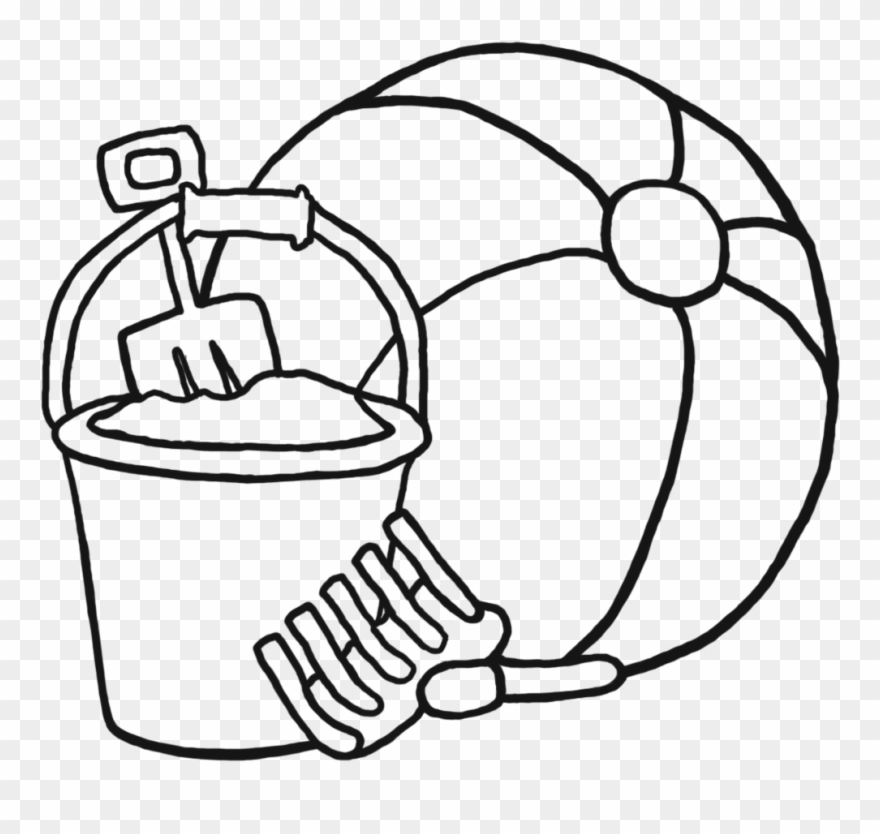 Black & white coloring clipart png royalty free library Beach Ball Clipart Black And White 6 Clip Art Coloring - Beach Toys ... png royalty free library