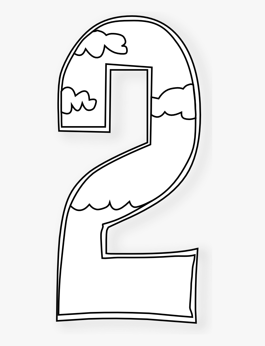 Black & white coloring clipart vector freeuse download Number Clipart Black And White - Day 2 Of Creation Coloring Sheets ... vector freeuse download