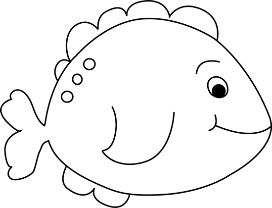 Fish clipart for coloring banner library Black and White Little Fish Clip Art Image - black and white outline ... banner library