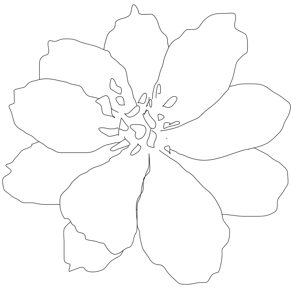 Flower petal clipart black and white clipart free library White Flowers Clip Art | black white line art tattoo black and white ... clipart free library