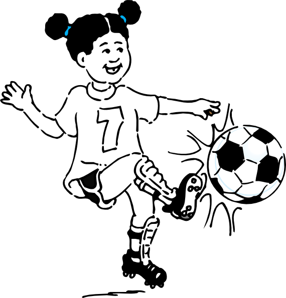 Black & white football clipart png stock Kicking Clipart Group (86+) png stock