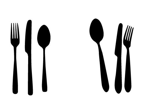 Knife and fork clipart picture black and white Fork and knife clipart black and white 2 » Clipart Station picture black and white