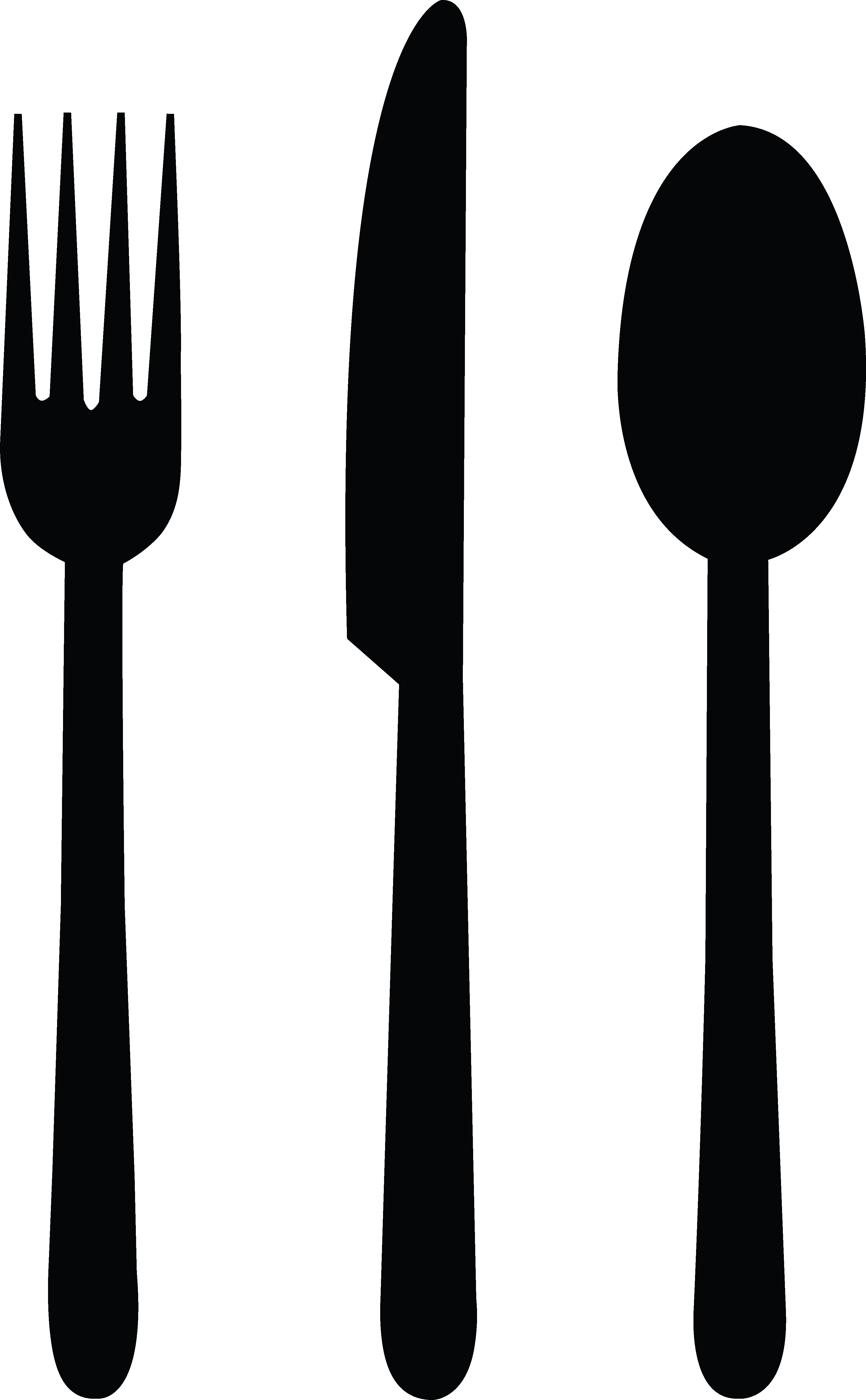 Clipart fork and knife image black and white download Spoon Clipart Black And White | Free download best Spoon Clipart ... image black and white download