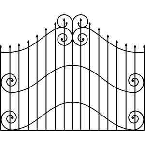 Black & white gate clipart vector black and white stock Gate clipart black and white 4 » Clipart Station vector black and white stock